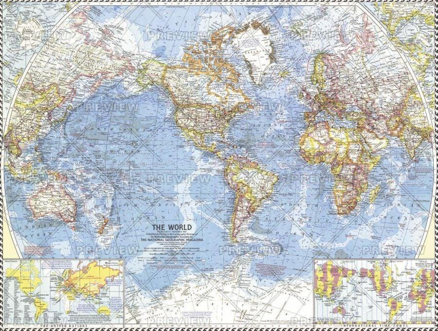 World Published 1960 Map