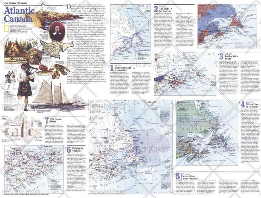 Making Of Canada Atlantic Canada Theme Published 1993 Map