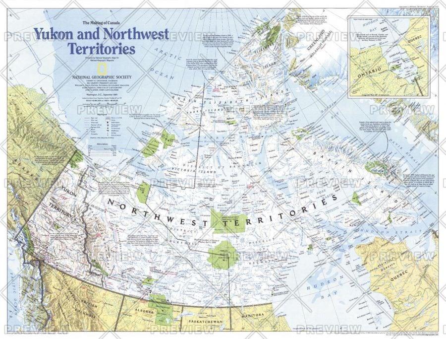 Making Of Canada Yukon And Northwest Territories Published 1997 Map