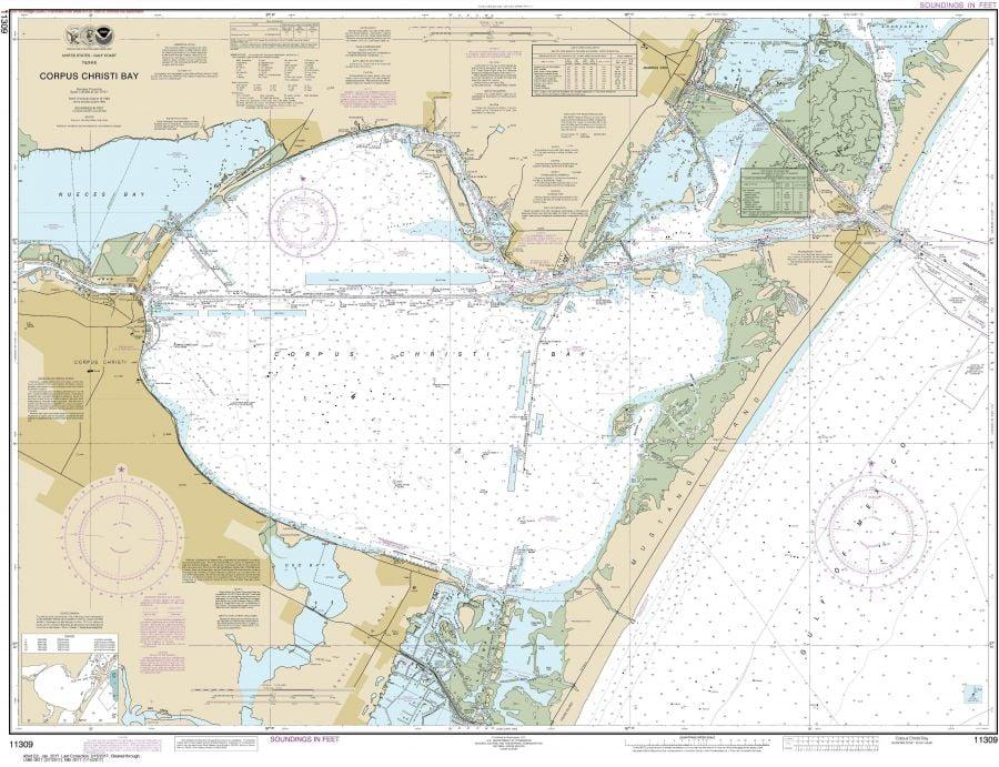 Noaa Chart 11309 Corpus Christi Bay