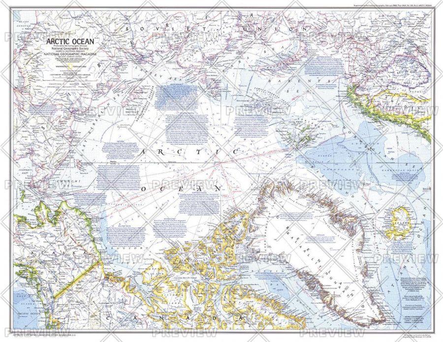 Arctic Ocean Published 1983 Map