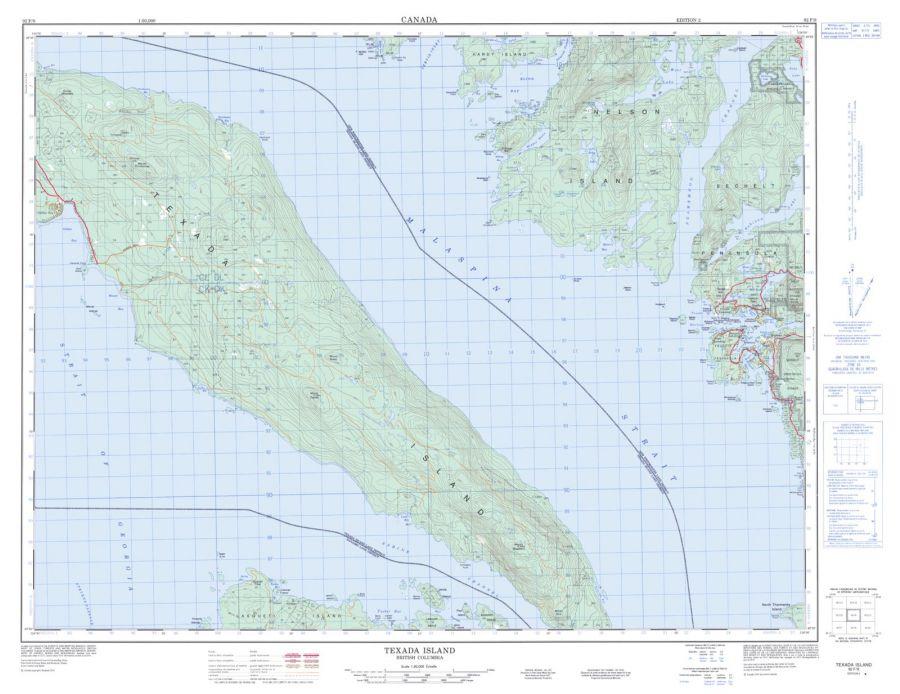 Texada Island - 92 F/9 - British Columbia Map