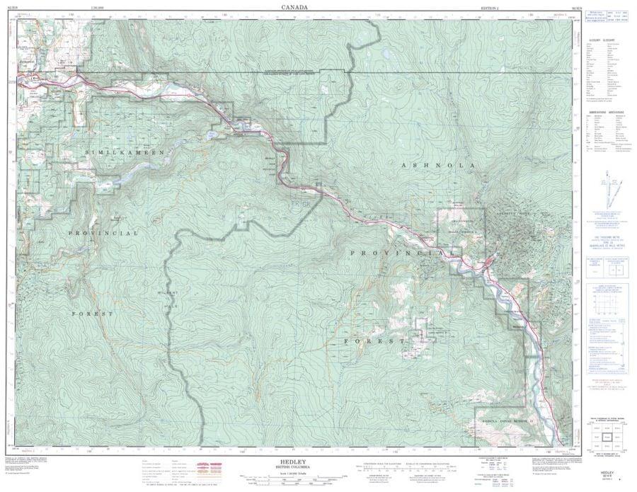 Hedley - 92 H/8 - British Columbia Map