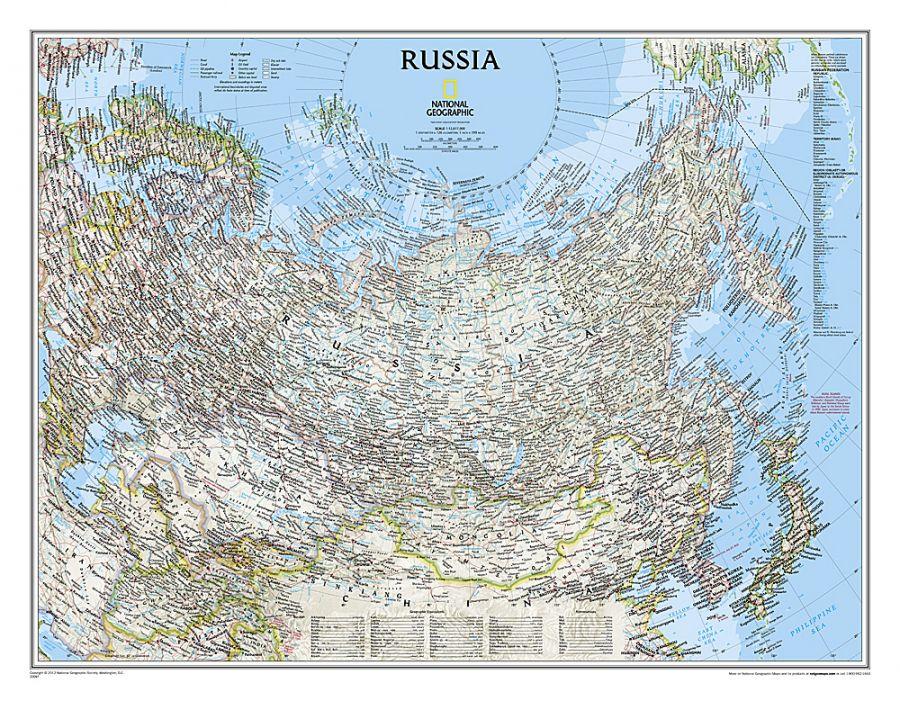 Russia Classic Map