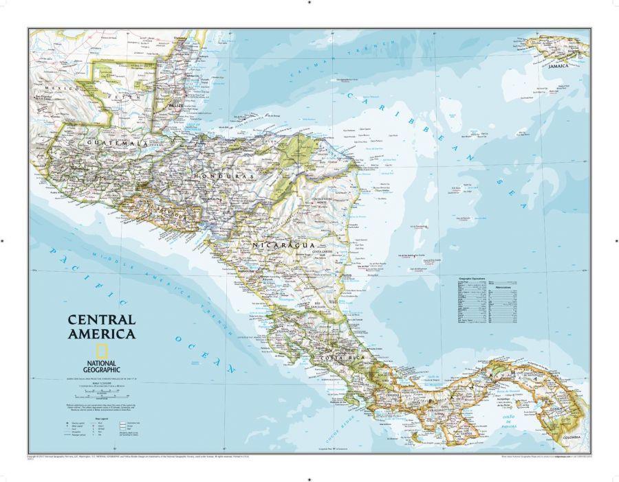 Central America Classic Map