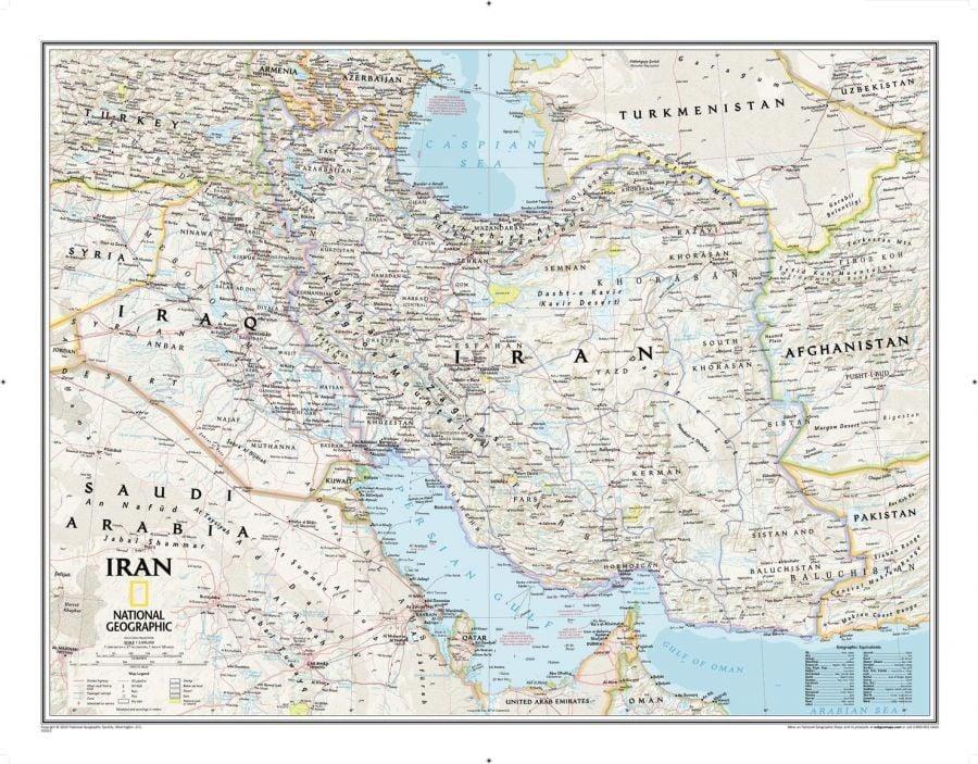 Iran Classic Map