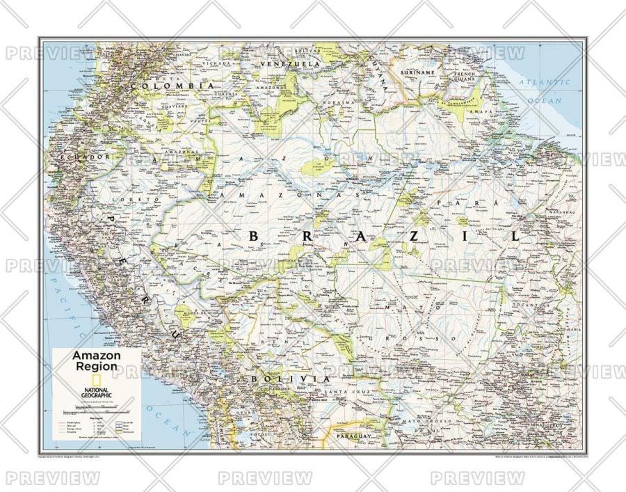 Amazon Region Atlas Of The World 10Th Edition Map