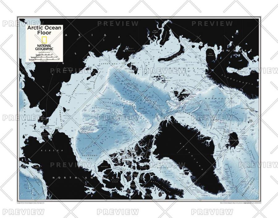 Arctic Ocean Floor Atlas Of The World 10Th Edition Map