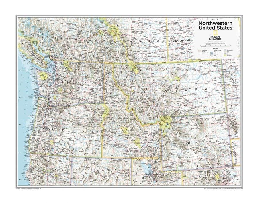 Northwestern U S Atlas Of The World 10Th Edition Map