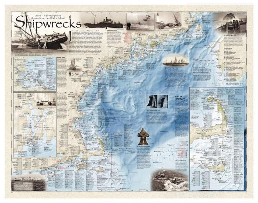Shipwrecks Of The Northeast Map