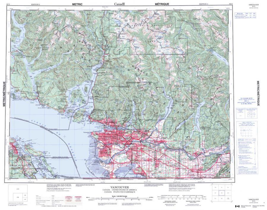 Vancouver - 92 G - British Columbia Map