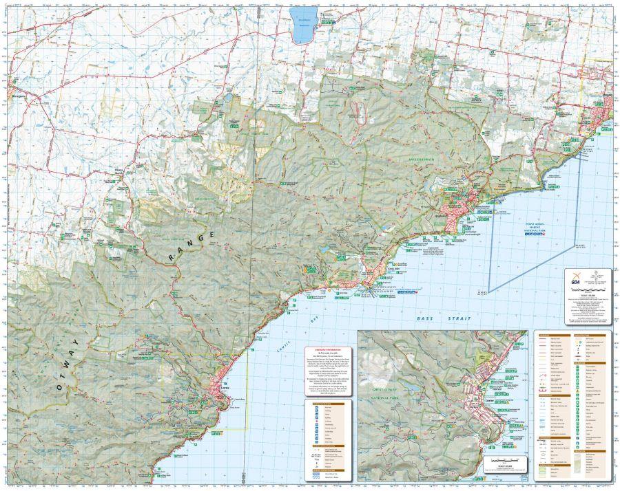 Otways East Surfcoast Victoria Topographic Map