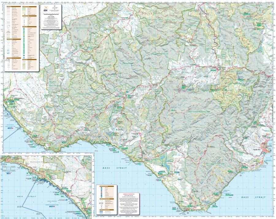 Otways West Shipwreck Coast Victoria Topographic Map