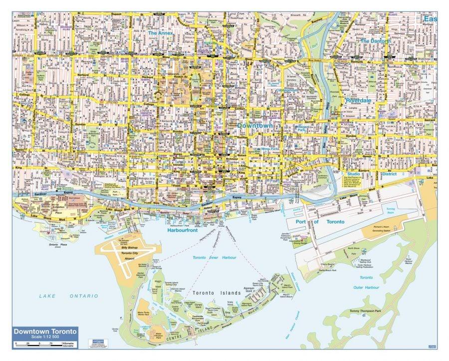 Toronto Downtown Map