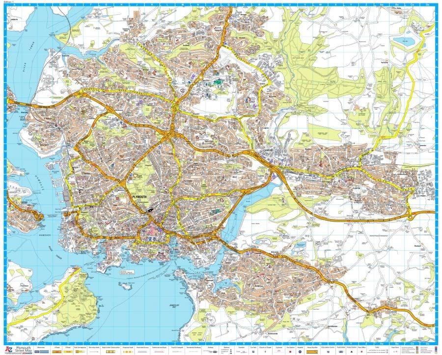 A Z Plymouth Street Map