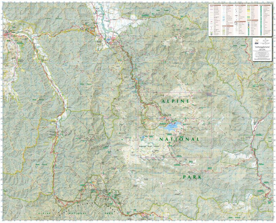 Bogong Alpine Area Victoria Topographic Map
