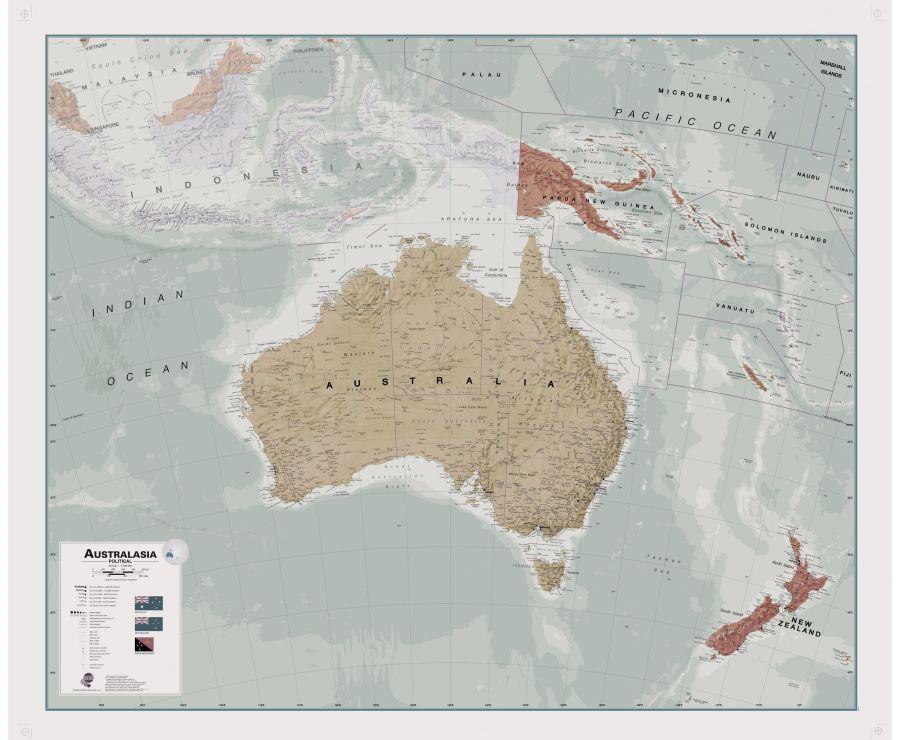Executive Australasia Political Wall Map