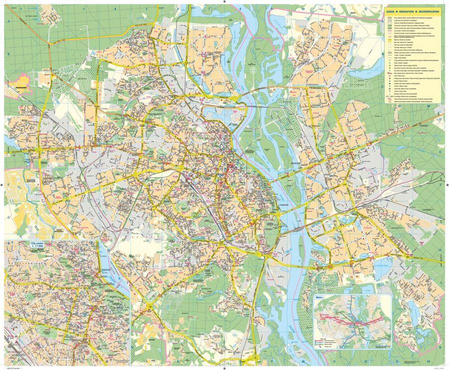 Kyiv Tourist Map Latynka