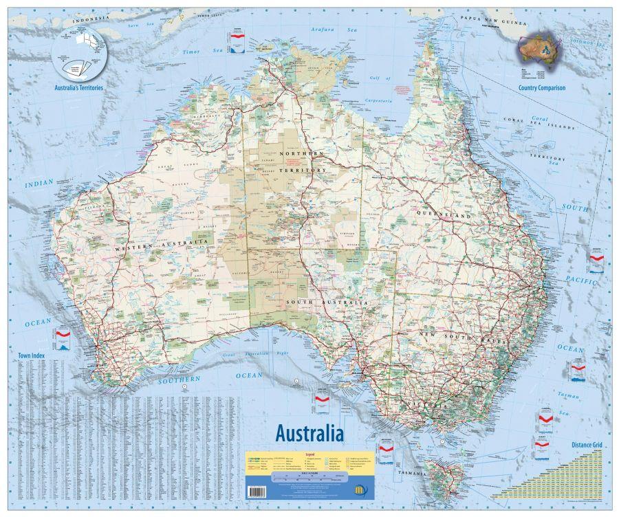 Australia Wall Map 2Nd Edition