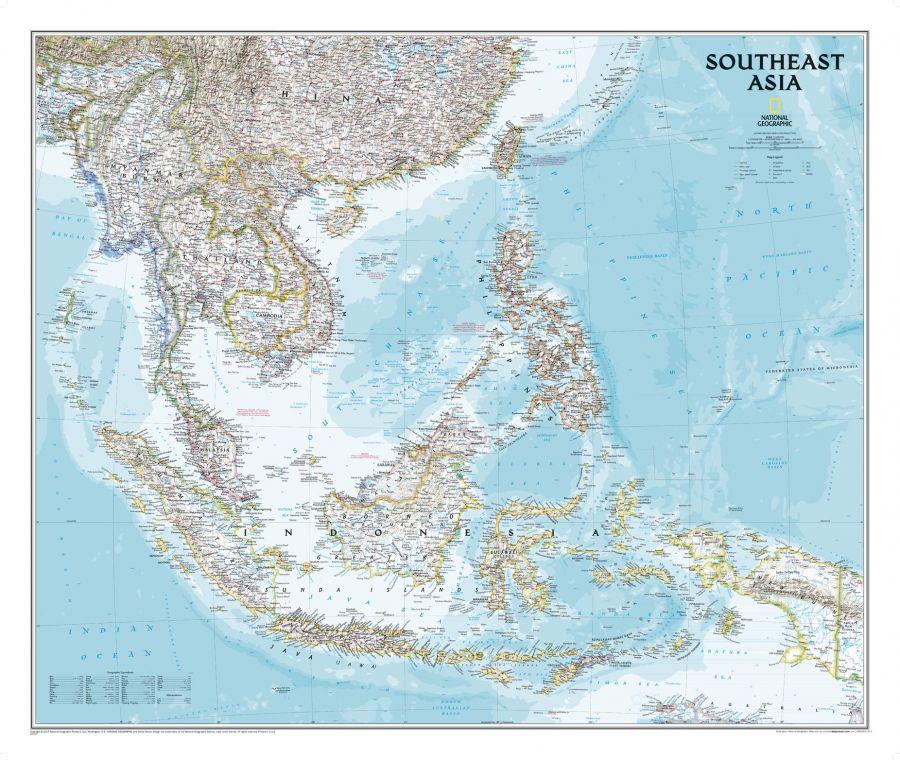 Southeast Asia Classic Map