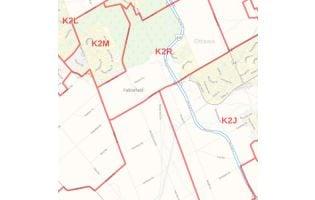 Greater Ottawa - Gatineau Postal Code Forward Sortation Areas Map