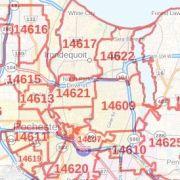Syracuse NY ZIP Code Map