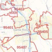 Santa Ana ZIP Code Map, California