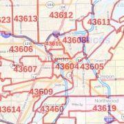 Cincinnati ZIP Code Map, Ohio