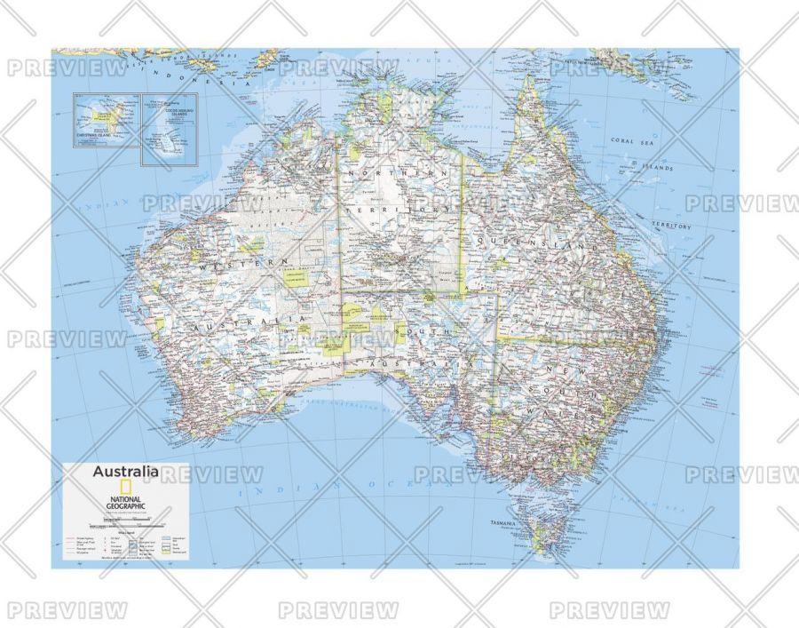Australia Political Atlas Of The World 10Th Edition Map