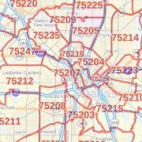 Dallas Zip Code Map Texas