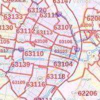 St. Louis ZIP Code Map, Missouri on missouri mls map, missouri meth map, missouri postal code map, missouri congressional district map, missouri street map, missouri county map, missouri state map, missouri zone map, missouri school district map,