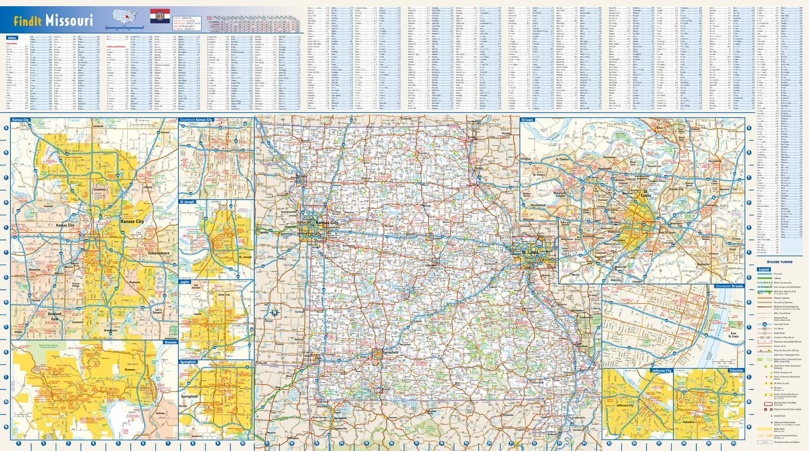 Missouri State Map USA