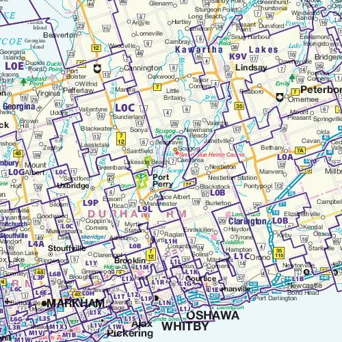 Postal Code Map Ontario Canada Ontario Postal Code Map