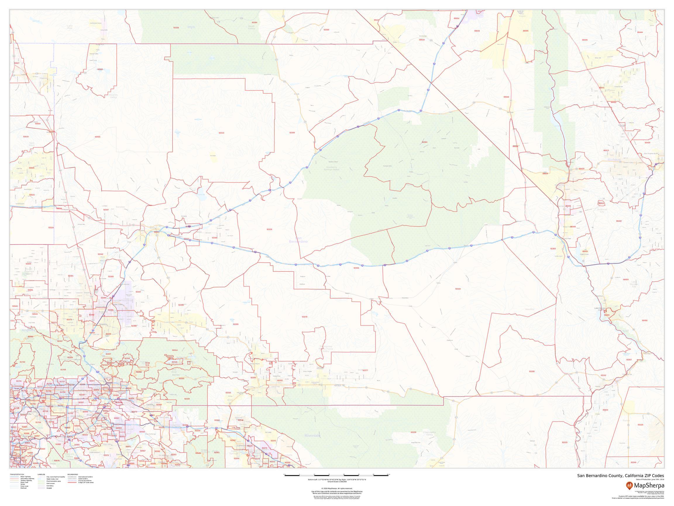 san bernardino ca zip code map San Bernardino Zip Code Map County