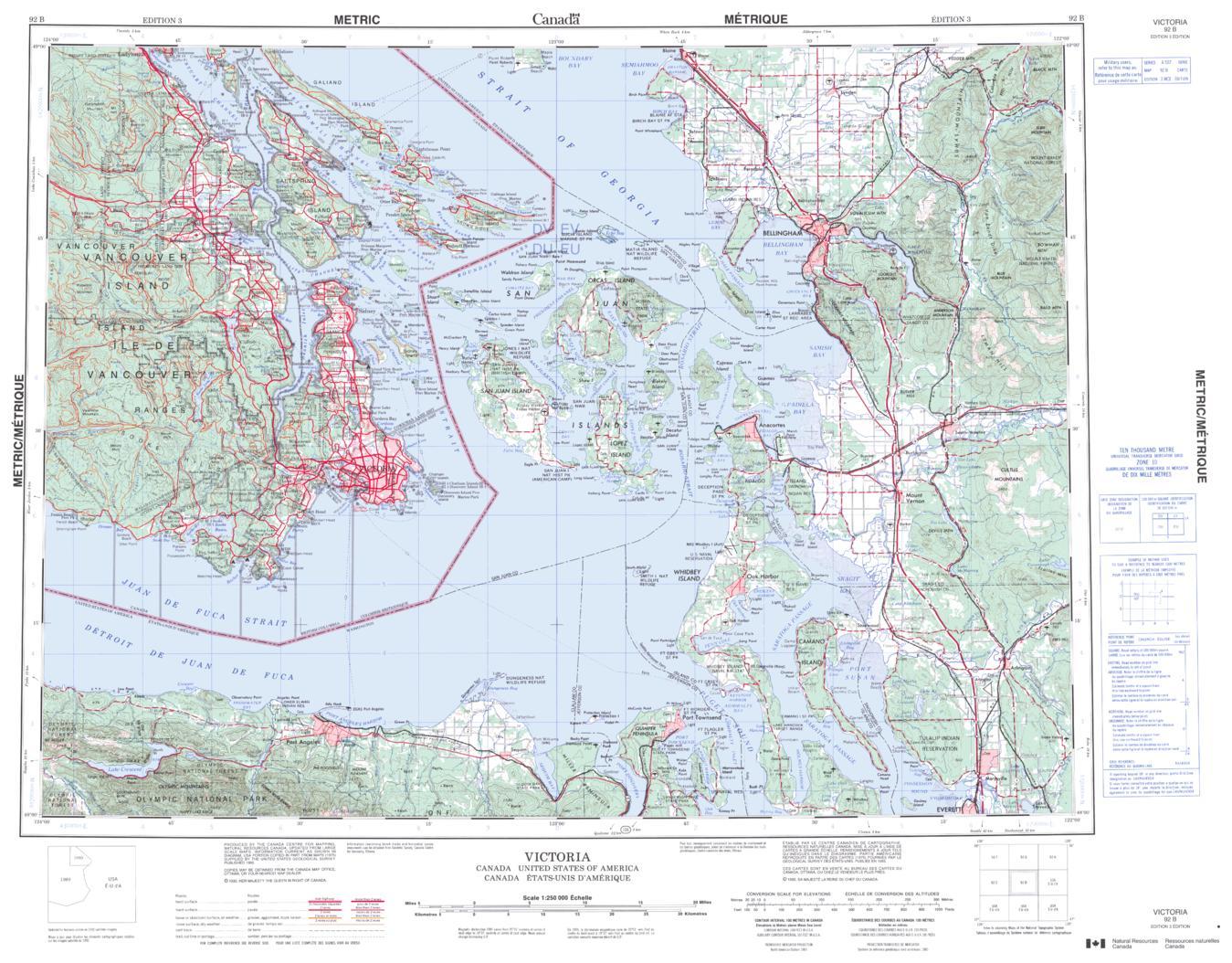 Topographic Map Of Victoria Bc