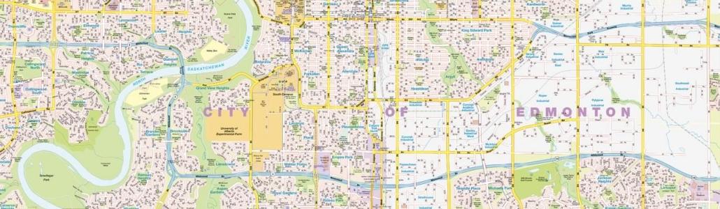 Alberta City Maps